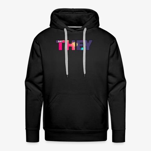TheySay logo - Men's Premium Hoodie