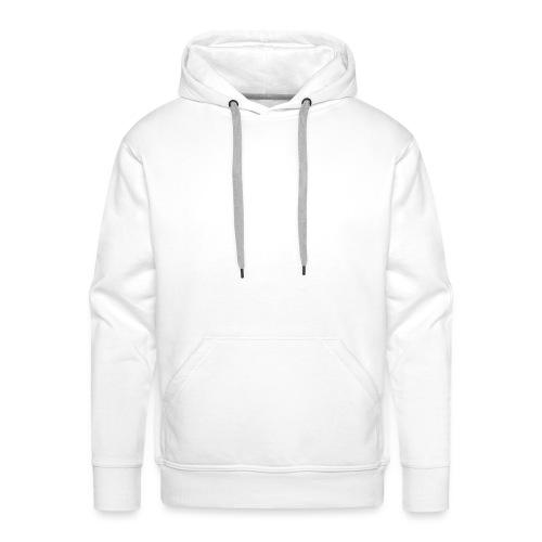 fitness logo white - Men's Premium Hoodie