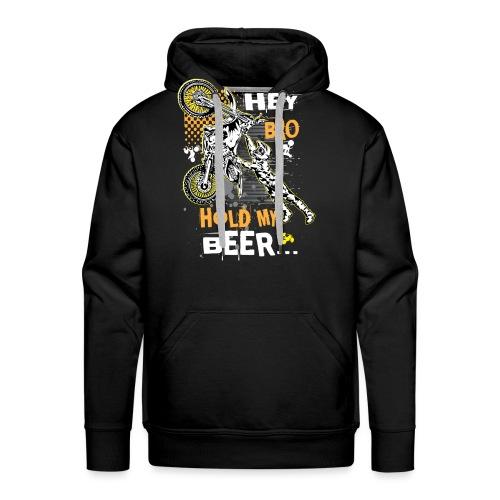 Hold My Beer Motocross - Men's Premium Hoodie