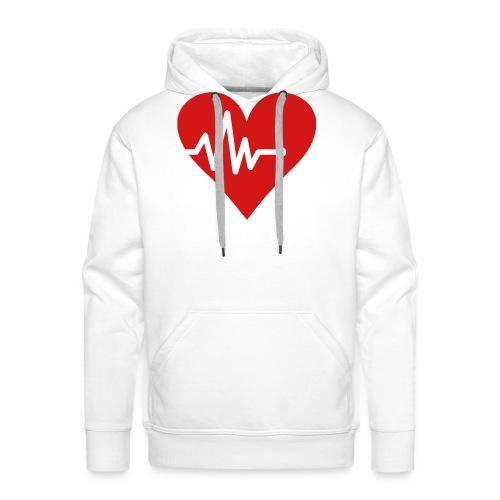 Heartbeat - Men's Premium Hoodie