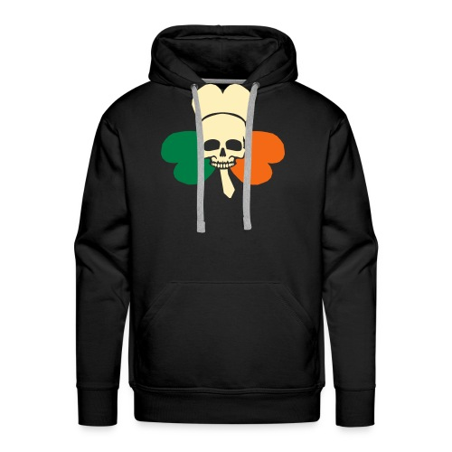 irish_skull_shamrock - Men's Premium Hoodie