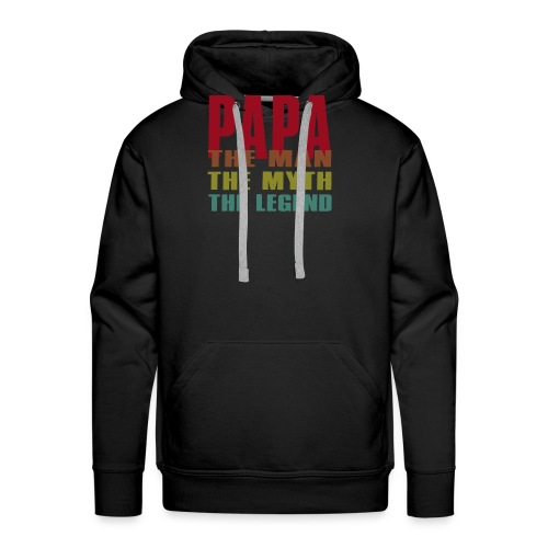 Papa The Man The Myth The Legend - Papa Gift - Men's Premium Hoodie