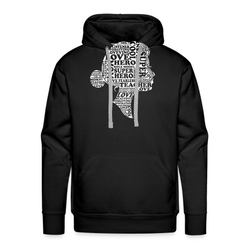 Mother Definition, Teacher Mom, Great Teacher Mom - Men's Premium Hoodie