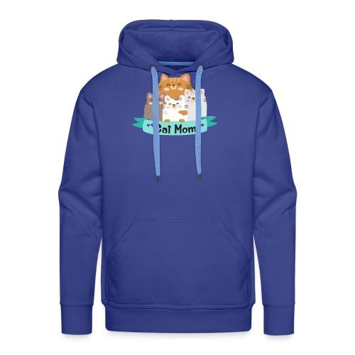 Cat MOM, Cat Mother, Cat Mum, Mother's Day - Men's Premium Hoodie