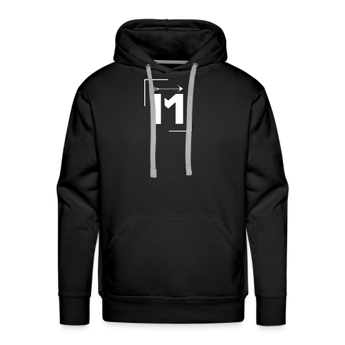 MADE white BrstPKT emblem - Men's Premium Hoodie