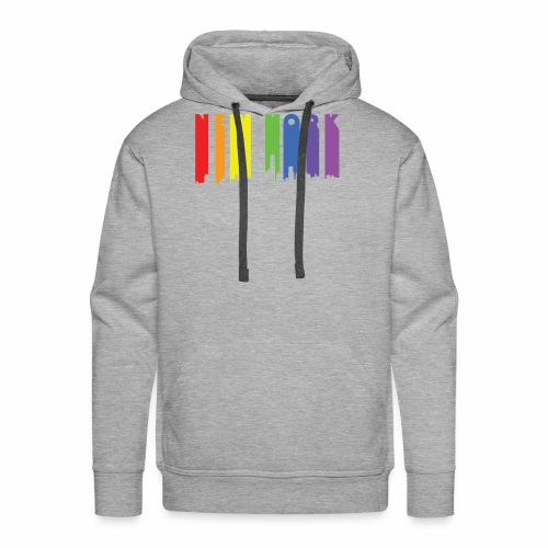 New York design Rainbow - Men's Premium Hoodie