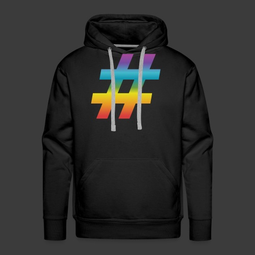 Rainbow Include Hash - Men's Premium Hoodie