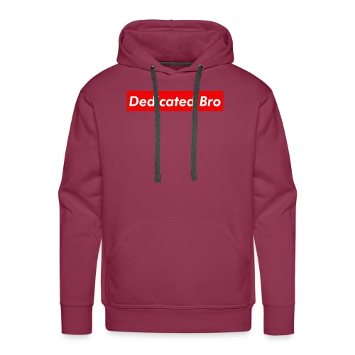 Dedicated-Bro-Boxlogo - Men's Premium Hoodie