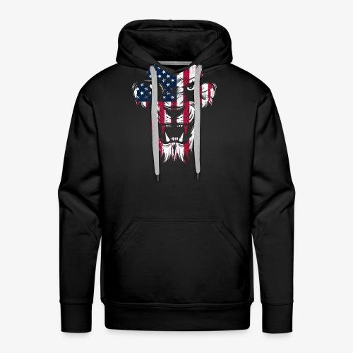 American Flag Lion - Men's Premium Hoodie