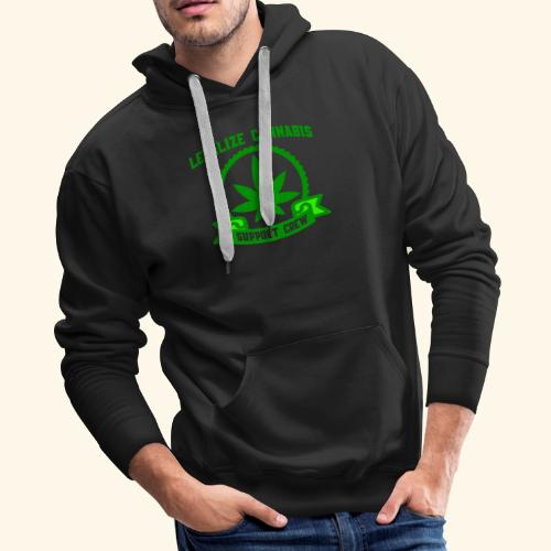 Legalize Cannabis - Support Crew - Real Weed Lover - Men's Premium Hoodie