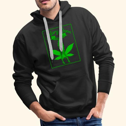 MARJ JANE - PUFF PASS - WEED SMOKER SHIRT FOR MEN - Men's Premium Hoodie