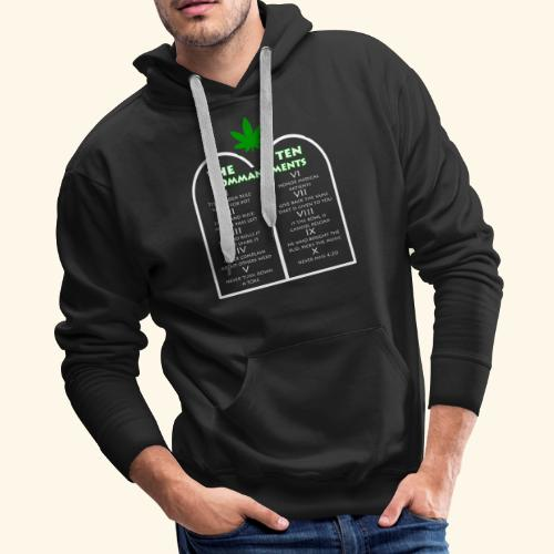 The Ten Commandments of cannabis - Men's Premium Hoodie