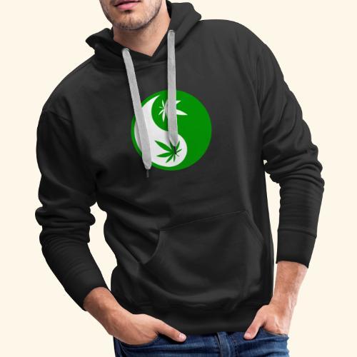 Ying Yang Cannabis - Weed Ying Hanf Yang - Design - Men's Premium Hoodie