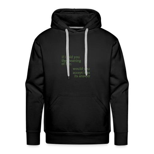 meaning of life - Men's Premium Hoodie