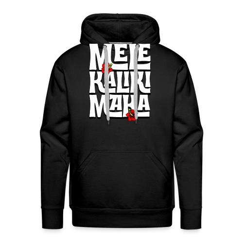 Mele Kalikimaka Hawaiian Christmas Song - Men's Premium Hoodie