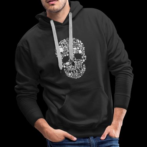 Getting Schooled Skull - Men's Premium Hoodie