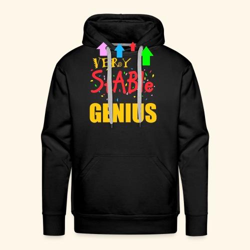 very stable genius - Men's Premium Hoodie