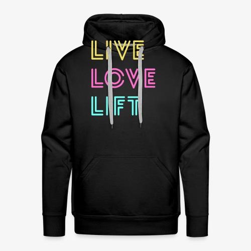 Live Love Lift Neon - Men's Premium Hoodie