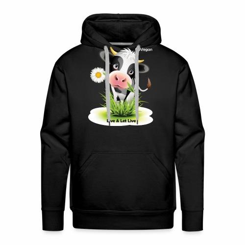 Live & Let Live Cow - Men's Premium Hoodie