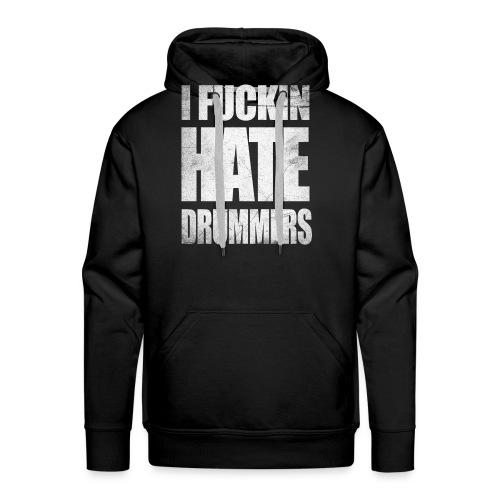 i_hate_drummers_SCRATCH20 - Men's Premium Hoodie