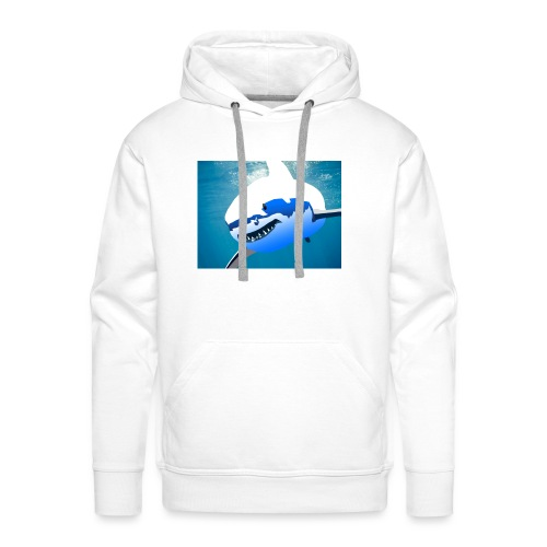 Super Lit Shark Drawing by Adam Tennant - Men's Premium Hoodie