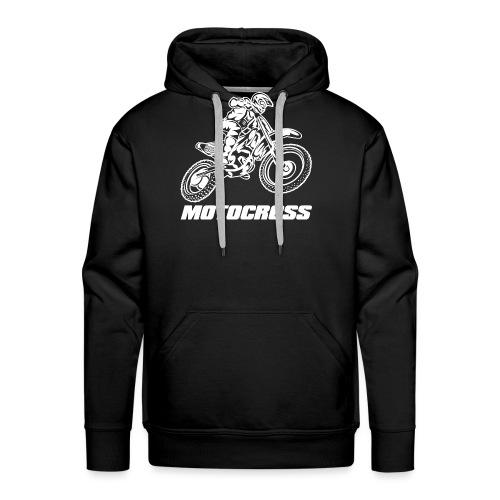 Motocross Logo White - Men's Premium Hoodie