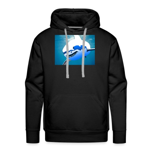 Super Lit Shark Drawing by Adam Tennant - Men's Premium Hoodie
