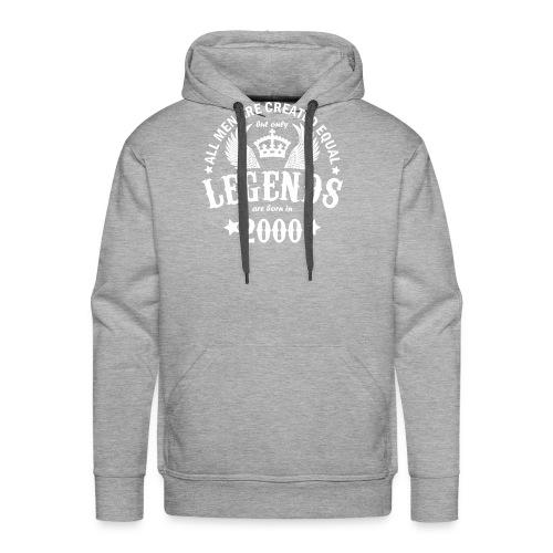 Legends are Born in 2000 - Men's Premium Hoodie
