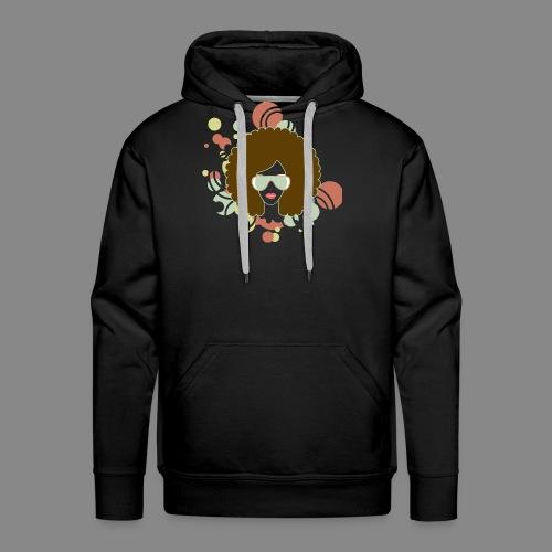 Brown Afro (Abstract) - Men's Premium Hoodie