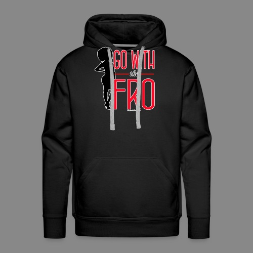 Go With the Fro (Dark) - Men's Premium Hoodie