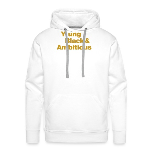 YBA Black and Gold Shirt2 - Men's Premium Hoodie