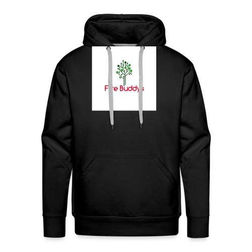 Fire Buddys Website Logo White Tee-shirt eco - Men's Premium Hoodie