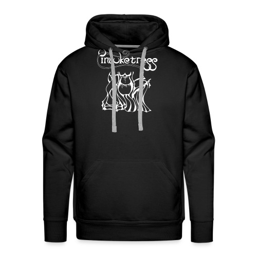 Invoketress Bellies Logo in White - Men's Premium Hoodie