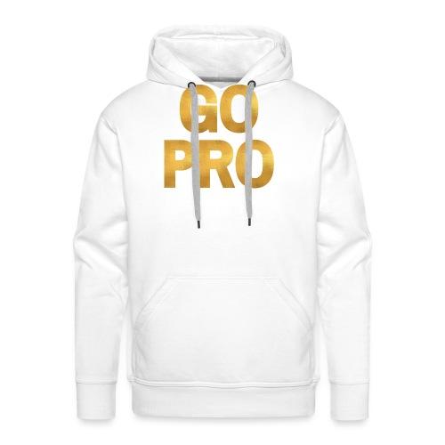 GO PRO - Gold Foil Look - Men's Premium Hoodie