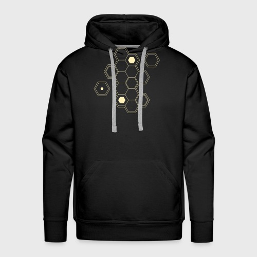 gamer,dnd dungeons and dragons,board game,hexagon, - Men's Premium Hoodie