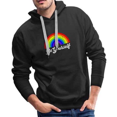 Be Yourself Pride Tee - Men's Premium Hoodie