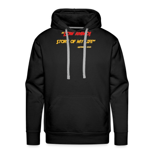 Logoed back with low ammo front - Men's Premium Hoodie