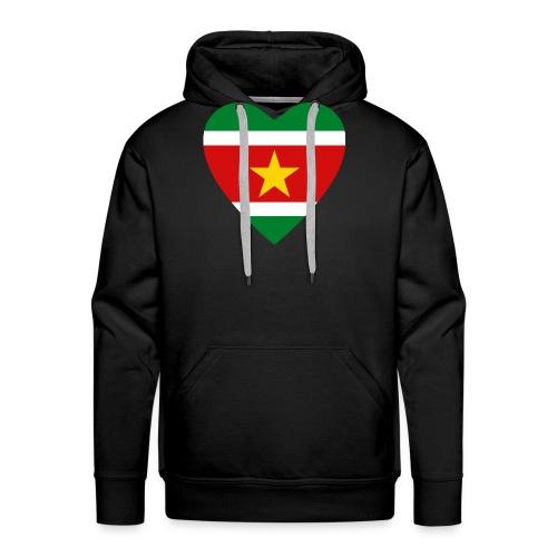 Suriname Flag Heart - Men's Premium Hoodie