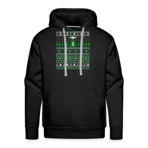 UFO ALIEN UGLY Christmas - Men's Premium Hoodie