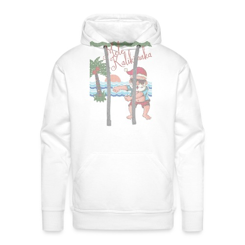 Ugly Christmas Sweater Hawaiian Dancing Santa - Men's Premium Hoodie