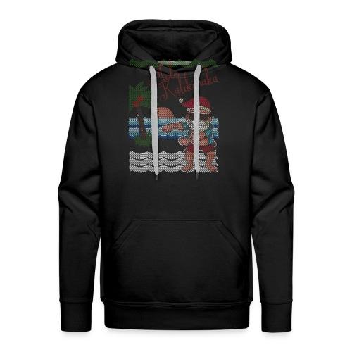 Ugly Christmas Sweater Hawaiian Dancing Santa - Men's Premium Hoodie