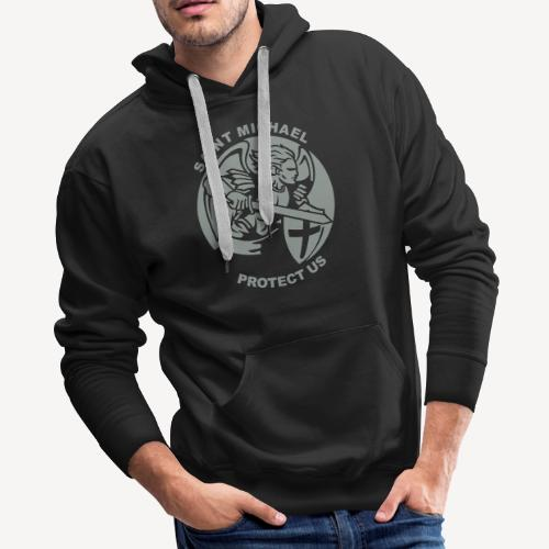 SAINT MICHAEL PROTECT US - Men's Premium Hoodie