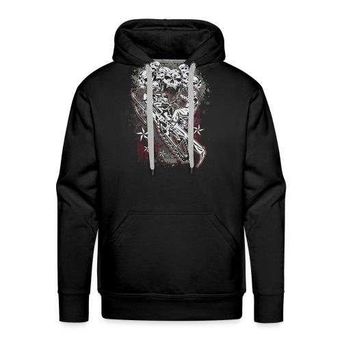 Snowmobile Skull Bunch - Men's Premium Hoodie