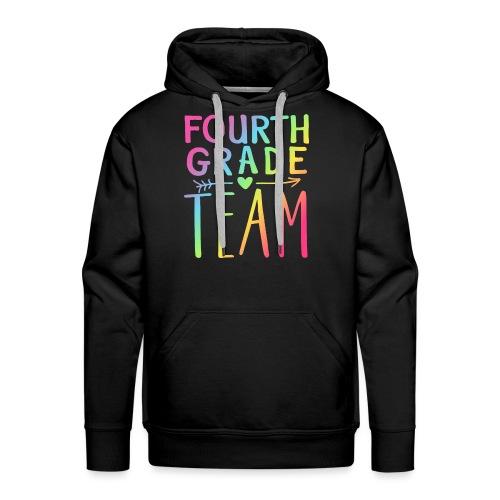 Fourth Grade Team Neon Rainbow Teacher T-Shirts - Men's Premium Hoodie