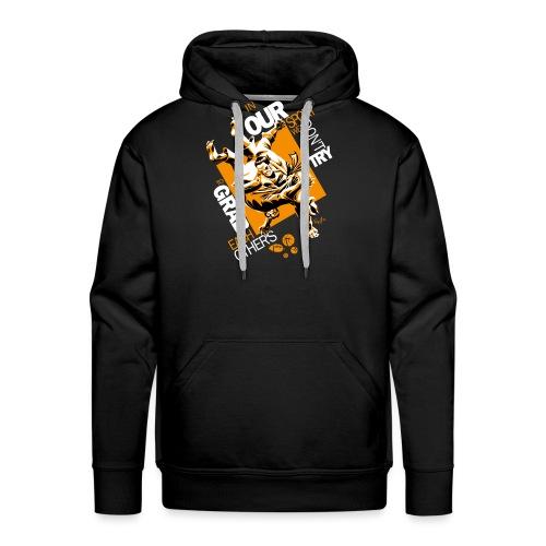 Judo Shirt BJJ Shirt Grab Design for dark shirts - Men's Premium Hoodie