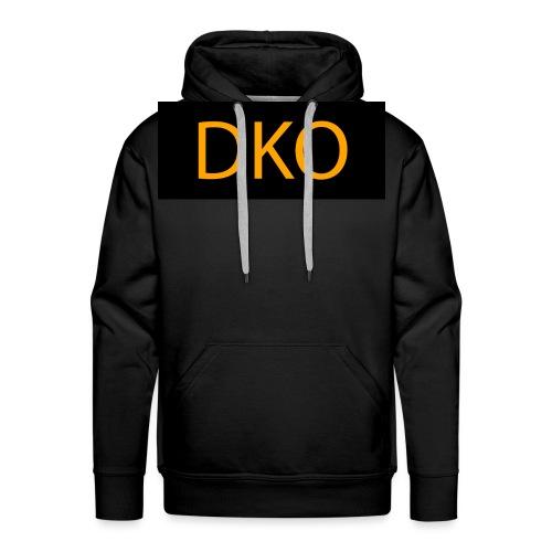 DKO orange and black - Men's Premium Hoodie