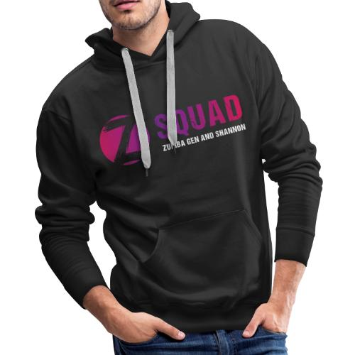 Z SQUAD LogoWHITE - Men's Premium Hoodie