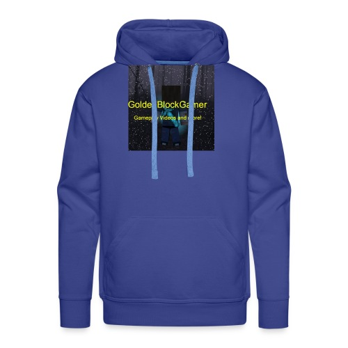 GoldenBlockGamer Tshirt - Men's Premium Hoodie