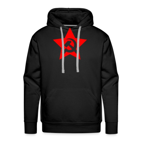 red and white star hammer and sickle - Men's Premium Hoodie