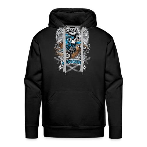 Heraldic Motocross Blue - Men's Premium Hoodie